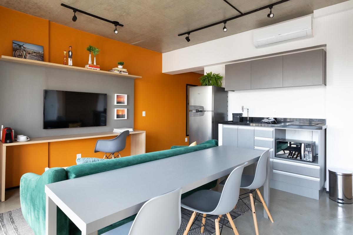 Projetos com paredes coloridas para te inspirar