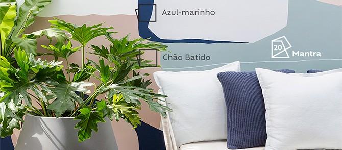 Mural orgânico feito por Marcela Riani pro Apartamento 203!