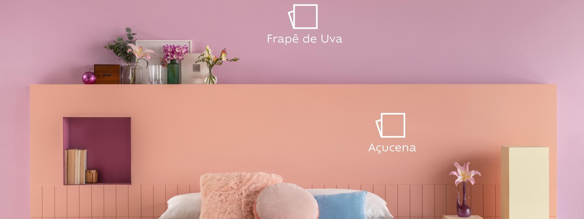 Cores e humor: pinte as paredes e transforme o clima da sua casa.