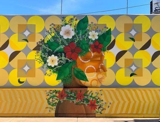 "Cores Suvinil inspiraram o mural ""Cecília"" de Alexandre Keto"