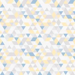 Bobinex Uau! Painel Geométrico Triângulos Multicolor Azul