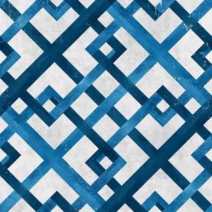 Bobinex Uau! Painel Geométrico Azul e Cinza