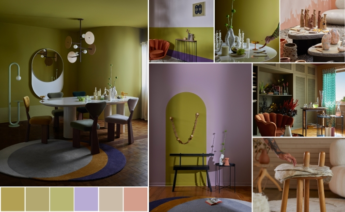 Ambientes internos decorados com tons suaves da Suvinil.