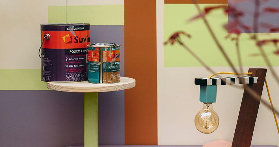 Suvinil Fosco Completo aplicado em decoração de ambientes internos.