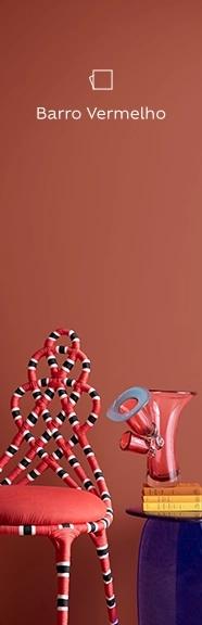 Decoração com barro vermelho, uma das cores intensas e vibrantes da Suvinil.