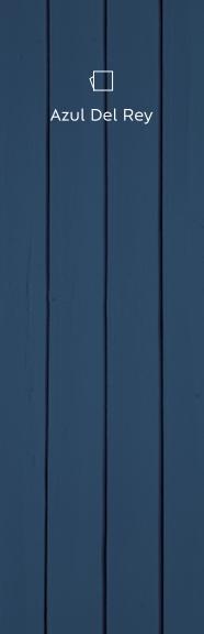 Portão de madeira pintado de azul representando as tintas para superfícies de madeira e metálicas.