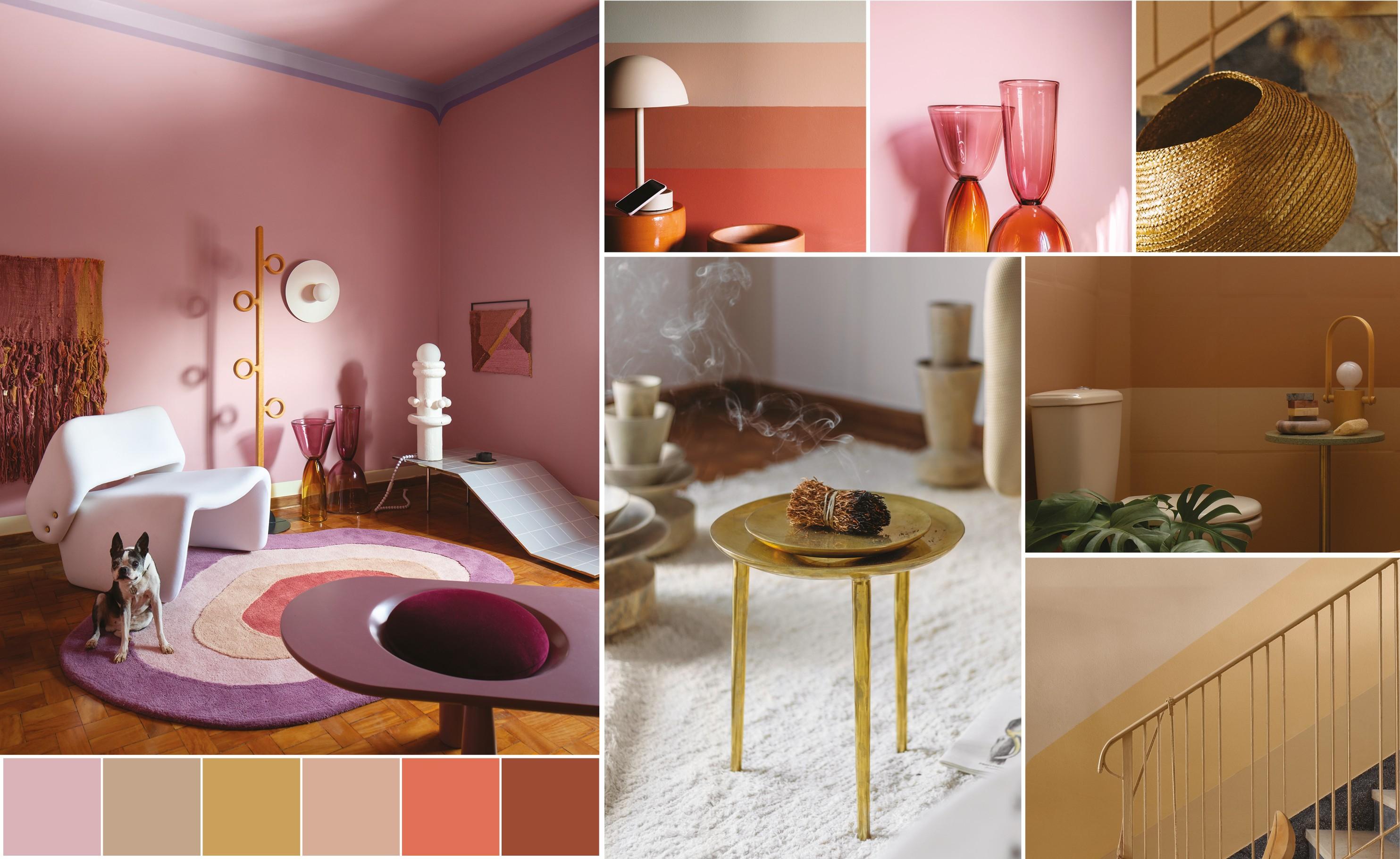 Suvinil Revela mostra ambientes pintados com as cores tendências de 2021.