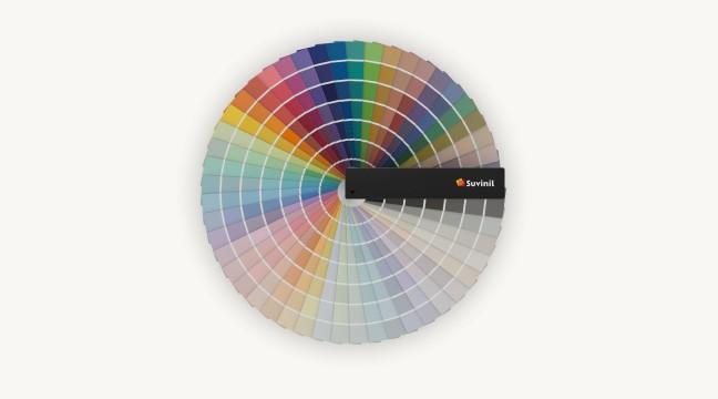 Leque de cores Suvinil.