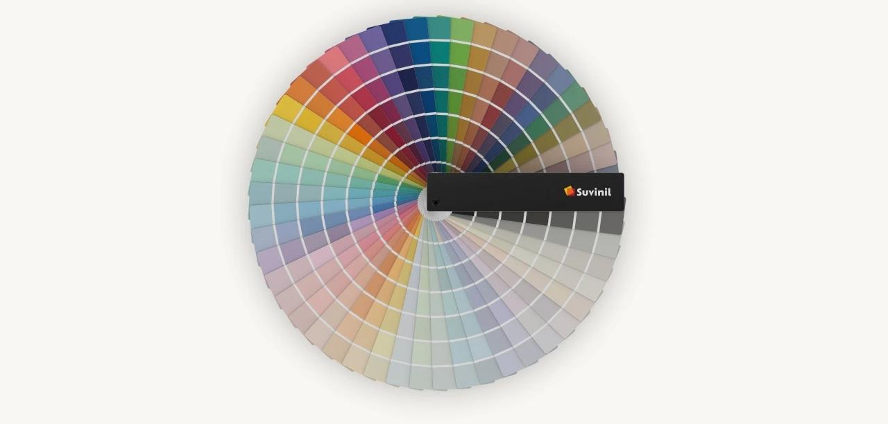 Leque de Cores Suvinil: todas as cores Suvinil de maneira prática.