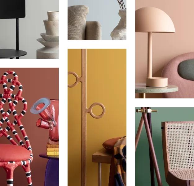Ilustração dos diferentes tons de cores Suvinil para decorações.