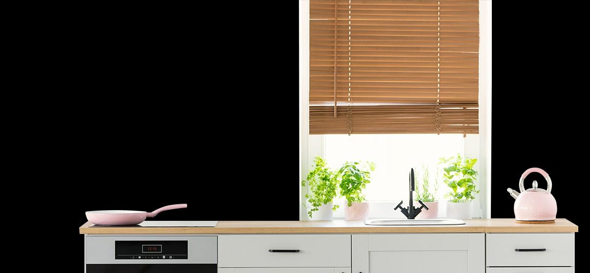 Cozinha de casa para simular pintura de parede com cores Suvinil.